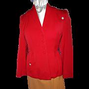 1940's Red Gabardine Jacket S/M