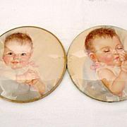 SALE Vintage Collectible Peter Watson's Baby Awake & Asleep Prints 1940s