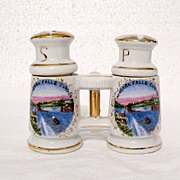 Vintage Collectible S & P Canadian Souvenir Shakers Designed to Look Like Binoculars 1930-50s