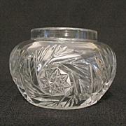 Vintage Collectible Heisey Glass Vanity Hair Receiver/Jar Sunburst Pattern 1903-1912 Mint