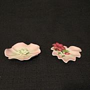 Vintage Collectible Ohio Porcelain Co Semi-Porcelain Ashtray Set 1940-56 Mint Unused Condition