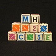 Vintage Collectible Toy Hard Plastic Kids Blocks 1950s Excellent Condition
