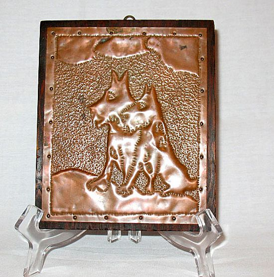 Vintage Collectible Scottie Dog Hammered Copper Wall Plaque 1930-40s Excellent Condition