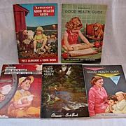 SALE Vintage Collectible (5) Rawleigh's Advertising Almanac/Cook Book/Health Guide 1950s Very