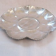 Vintage Round Aluminum Serving Tray Like New 1950s