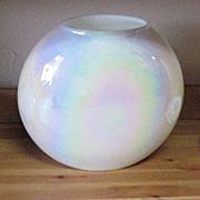 Vintage Hand Blown Opalescent/Iridescent Pillow Vase 1960s Mint