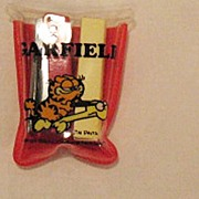 SALE Vintage Collectible Garfield Miniature Stapler With Staples & Case Creations by Dakin 197
