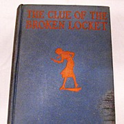 Vintage Carolyn Keene's The Clue of The Broken Locket 1934 Copyright Very Good Condition