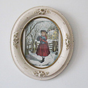 SALE Very Old Vintage Collectible (2)  Oval Picture Frames Late 1800s Very Good Condition