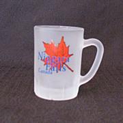 Vintage Frosted Miniature Souvenir Mug Niagara Falls Canada 1960-70s Mint