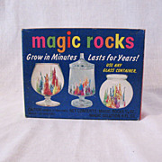 Vintage Novelty Majic Rocks That Grow Unopened Box 1971 Excellent Condition