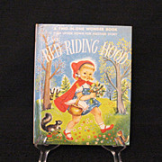 Vintage A Two-In-One Wonder Book The Three Little Pigs & Little Red Riding Hood 1954 First Edition Very Good Condition