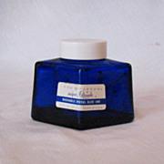 SALE Vintage Parker Cobalt Blue Diamond Shaped Ink Bottle  Original Cap 1950s