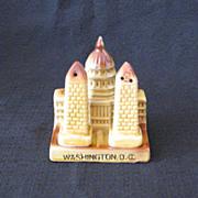 Vintage Souvenir US Capital & Washington Monument S & P Shakers 1950s Excellent Condition
