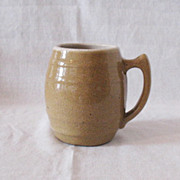 Nice Vintage UHL Tan Speckled Pottery Mug #16 Huntingburg Indiana 1908-1944 Very Good Condition