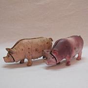 SALE Vintage Cast Iron Pig Piggy Banks 1970s Very Good Condition