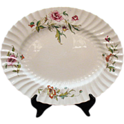 Vintage Royal Doulton Fine Bone China 16 ¾ Inch Oval Platter Clovelly Pattern Very Good Condition