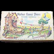 SALE Vintage Mother Goose Shoes Shoe Box 1954 Good Condition