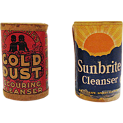 Two Vintage Cleaning Products Gold Dust Scouring Cleanser & Sunbrite Cleanser Both Unopened 19