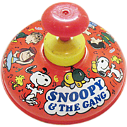 Vintage Snoopy Spinning Top by Ohio Art Toy  Co 1966 Good Condition