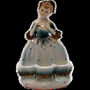 SALE Very Unusual Vintage Ceramic Lady Spool/Lip Stick  Holder 1950s Very Good Condition