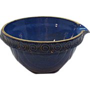 Very Old McCoy Blue Crock Bowl with Spout 1920-30s Very Good Condition