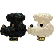 Vintage Poodle Dog Chalk ware Wall Plaques 1950-60s Good Condition