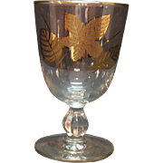 Vintage (8)  Libbey Water Goblets Gold Leaf Pattern 1950-60s Very Good Condition