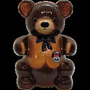 Vintage Regal China Teddy Bear Kraft Marshmallows Cookie Jar 1982 Very Good Condition