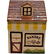 SOLD Vintage Los Angeles Potteries Cookie Jar the Bakery 1956 Very Good Condition