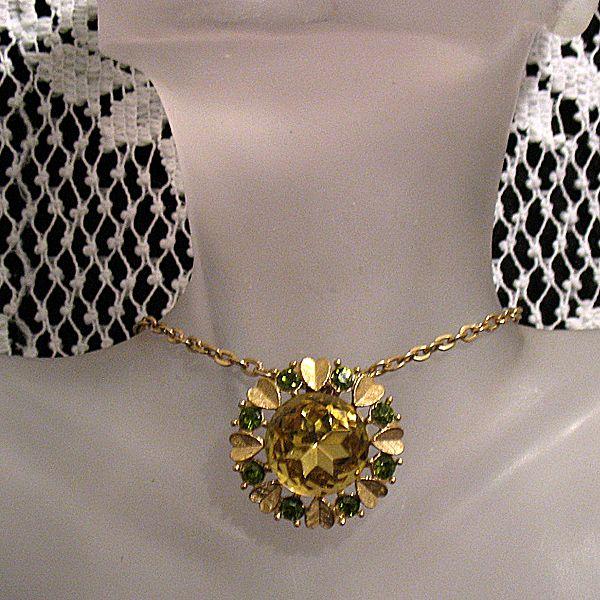 50% OFF~Vintage  Signed Avon Brooch Sun Brilliants Necklace Convertible