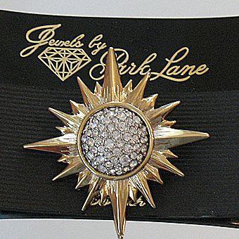 50% OFF~Breathtaking Vintage Jewels by Park Lane Pava Rhinestone Star Burst Brooch Pin~Original Packaging