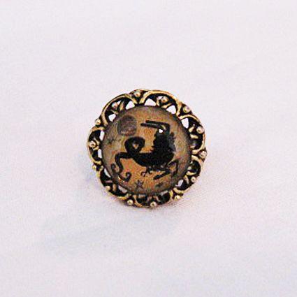 50% OFF~Vintage Costume Jewelry Capricorn Goat  Brass Ring