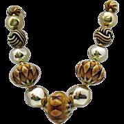 Unique Aborigines Vintage Resin Beaded Necklace