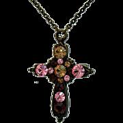 Retired Vintage Nicky Butler Cross Necklace~France