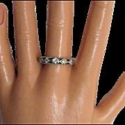 Signed AVON of Belleville Sterling CZ Ring