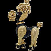 Gigantic Vintage Poodle Pendant Necklace