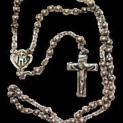 Very Nice Vintage Sterling Silver 1940s Petite Rosary