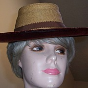 1940's Horsehair and Velvet Hat
