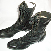 NOS Edwardian or Victorian Boy's or Men's Lace-Up Boots