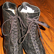 Size 8 Edwardian Black Boots or Shoes
