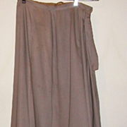 Grey Victorian Walking Skirt