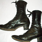 Size 8 Black Victorian Boots