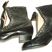 Fragile Ca. 1909 Edwardian Boots with Box