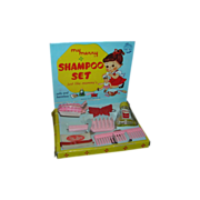 """Vintage 1955's My Merry """"Shampoo Set"""" Toy Dolly Set-Complete"""