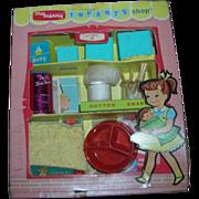 "Vintage 1957 My Merry ""Infant Shop"" Dolly Set"