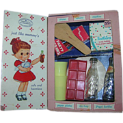 """Vintage 1957 My Merry """"Party Closet"""" Dolly Set - Complete"""