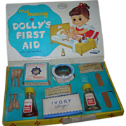"""Vintage 1957 My Merry """"Dolly's First Aid"""" Set - Complete"""