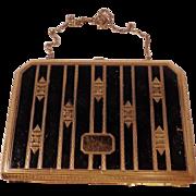 Vintage Gold and Black Vanity Case