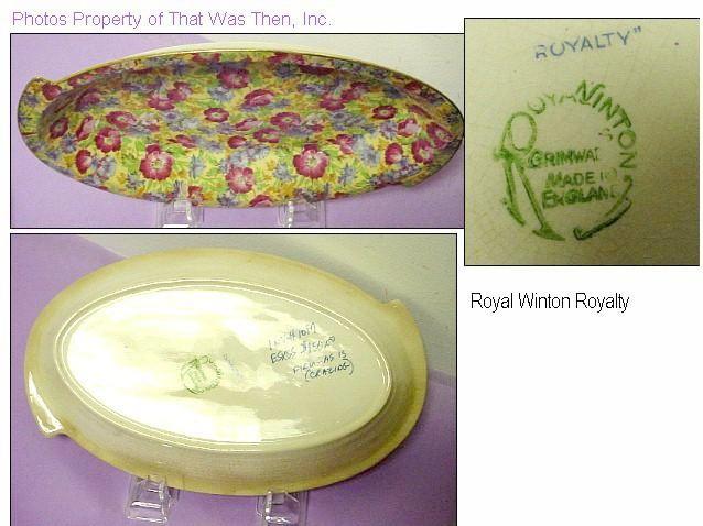 Old 1920s Royal Winton Chintz Royalty Handled Bowl